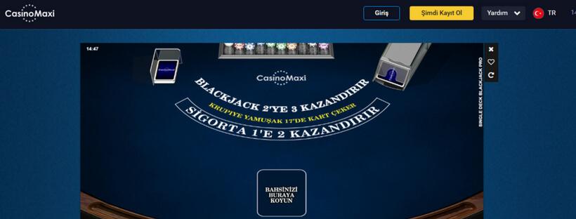 casinomaxi blackjaxk